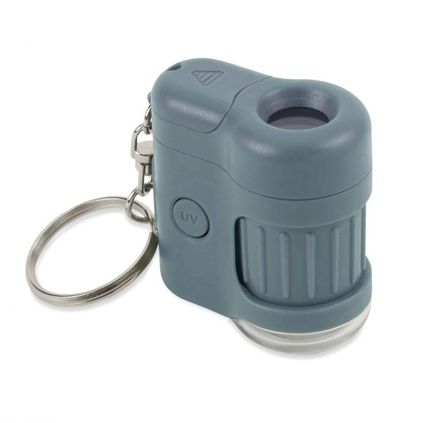 Microscopio de bolsillo LED y UV azul