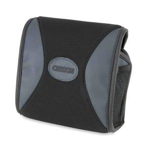 Grey and black neoprene binocular case