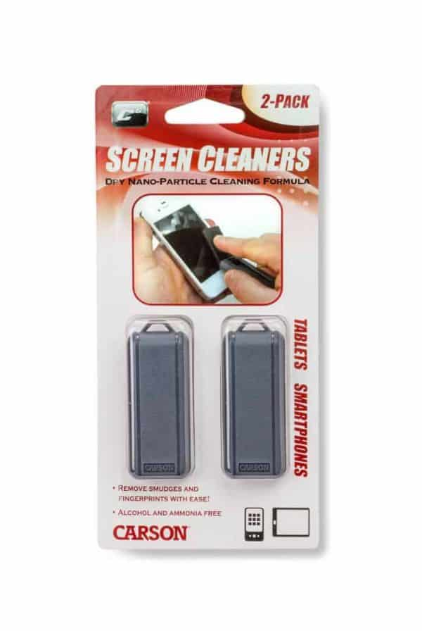 Two retractable screen cleaners