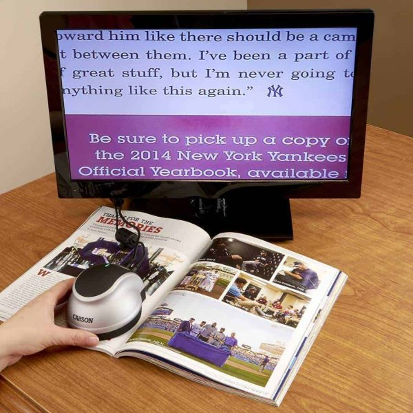 Digital reading device for television
