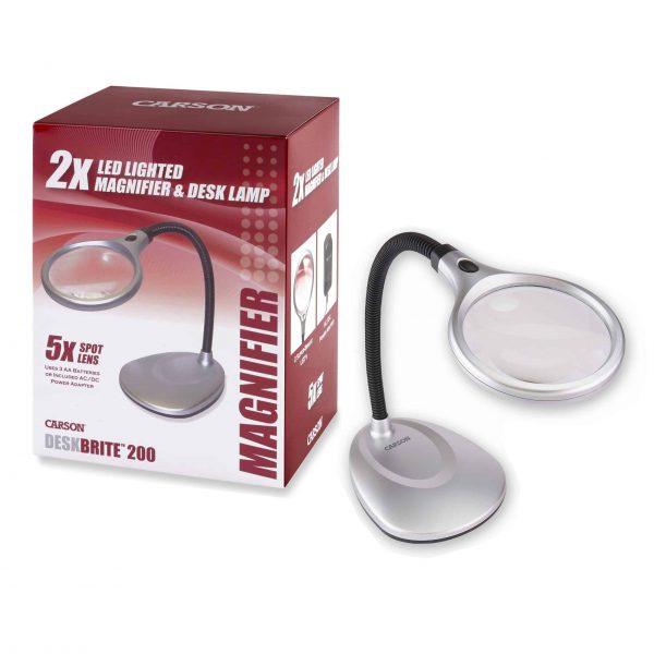 2x times LED desk lamp magnifier