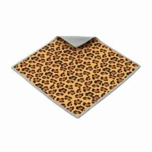 Doppelseitiges Mikrofasertuch Leopard-Muster