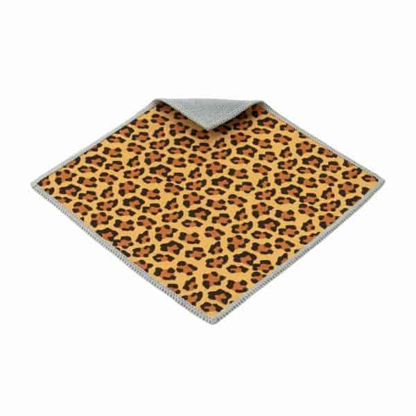 Chiffon de nettoyage léopard à deux côtés