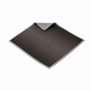 Chiffon de nettoyage en microfibre noir à deux faces