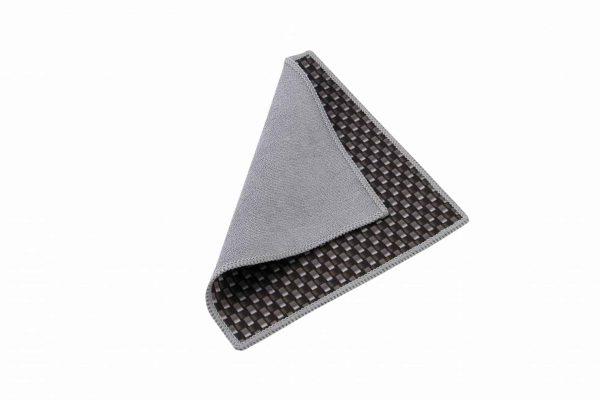 Schwarzes doppelseitiges Mikrofaser-Reinigungstuch