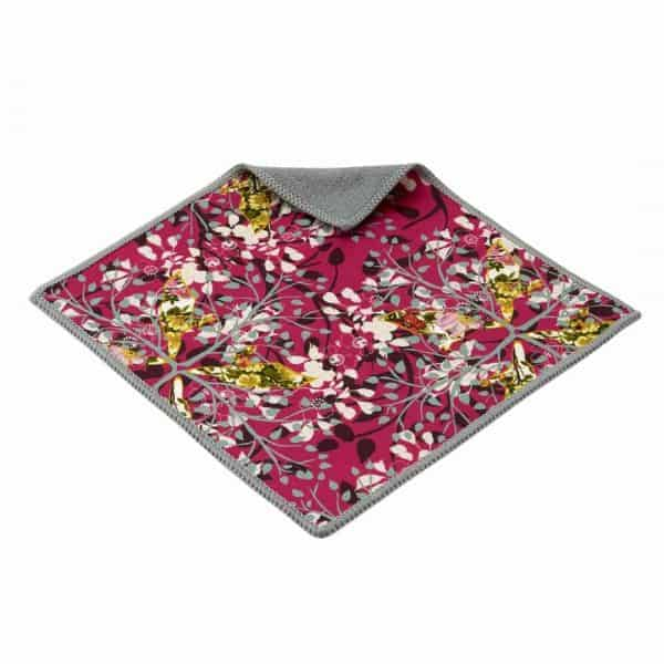 2 pink double sided microfiber cloths