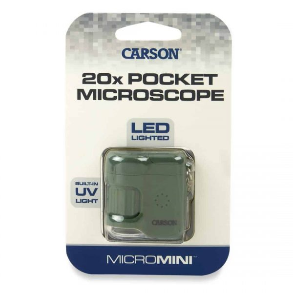 Grünes LED- und UV-Taschenmikroskop