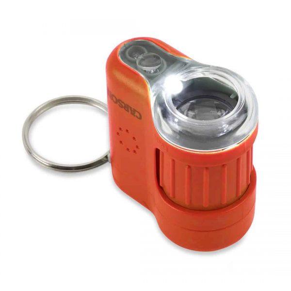 Orange LED and UV pocket microscope