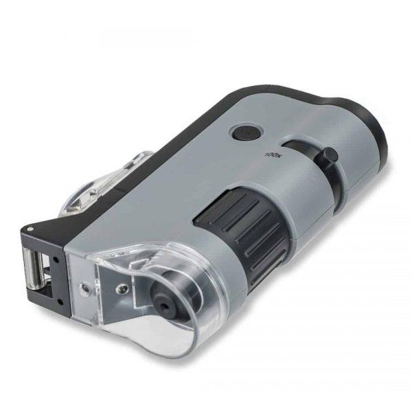 microscope de poche LED avec base rabattable