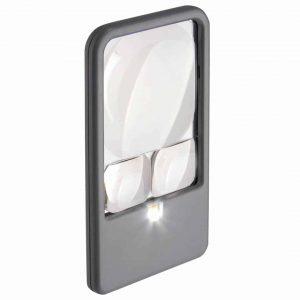 3 fois loupe de poche avec lumière LED