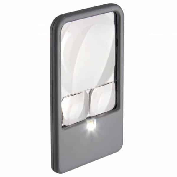 Three power pocket magnifier with LED light