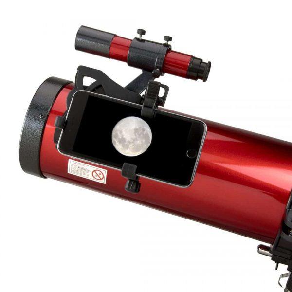 Telescopio reflector newtoniano de 45 a 100 veces con adaptador de smartphone