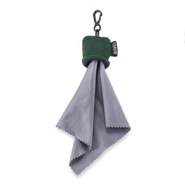 Bolsa verde con tela de microfibra