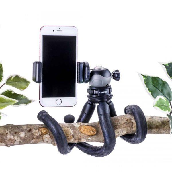 Trépied de bras flexible avec adaptateur de smartphone