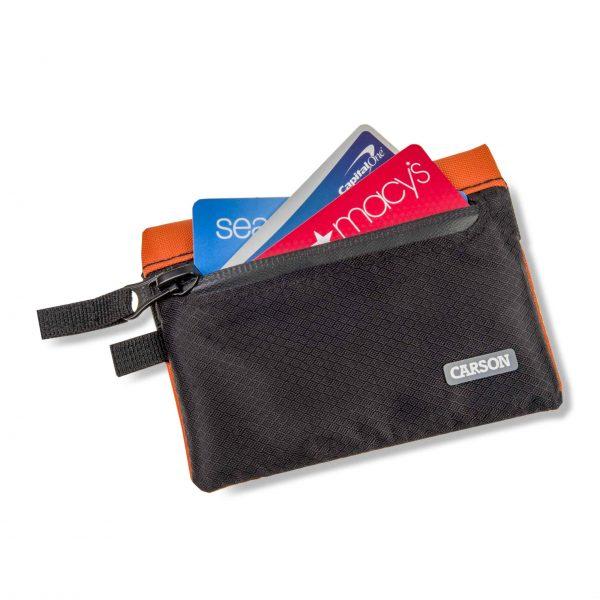 Orange floating wallet