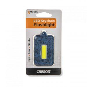 Blue keychain flashlight