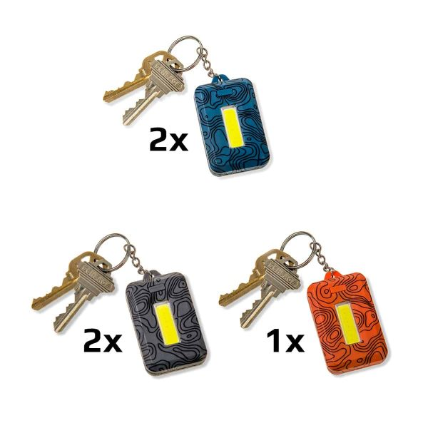 5 pack of assorted keychain lights