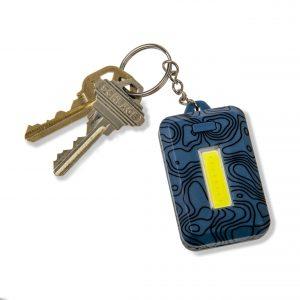 Lampe de poche porte-clés bleue