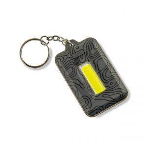 Lampe de poche porte-clés grise